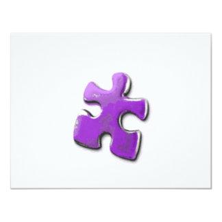Purple Puzzle! A design also for Autism Awareness 4.25x5.5 Paper Invitation Card