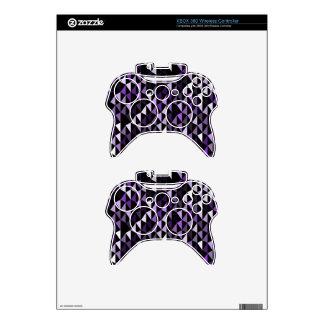purple pyramid pattern 02 xbox 360 controller skins