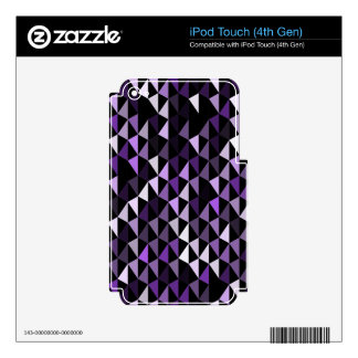 purple pyramid pattern 02 skins for iPod touch 4G