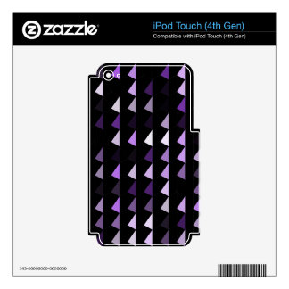 purple pyramid pattern 09 skins for iPod touch 4G