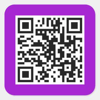 Purple QR CODE Sticker