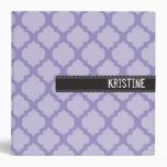 Purple quatre foil large binder