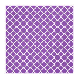 Purple Quatrefoil Pattern Canvas Print
