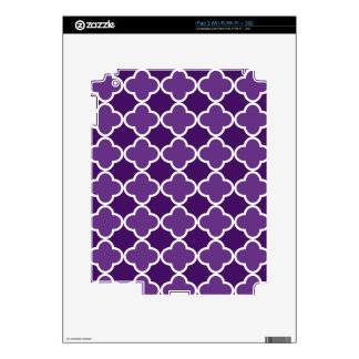 Purple quatrefoil pattern decals for the iPad 2