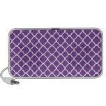 Purple Quatrefoil Pattern iPhone Speakers