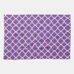 Purple Quatrefoil Pattern Kitchen Towel