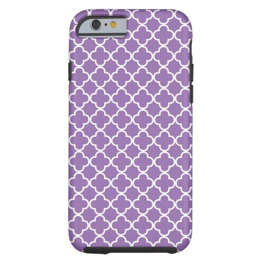 Purple Quatrefoil Pattern Tough iPhone 6 Case
