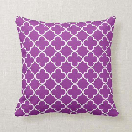 Quatrefoil Decorative Pillow : Purple Quatrefoil Throw Pillow Zazzle.com