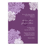 """Purple Queen Anne's Lace Wedding Invitation 5"""" X 7"""" Invitation Card"""