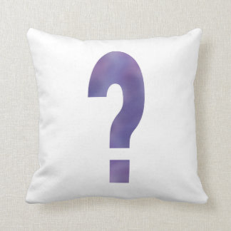 Purple Question Mark Throw Pillow