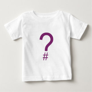Purple Question Tag/Hash Mark Baby T-Shirt