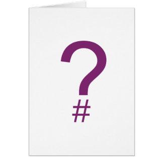 Purple Question Tag/Hash Mark Card