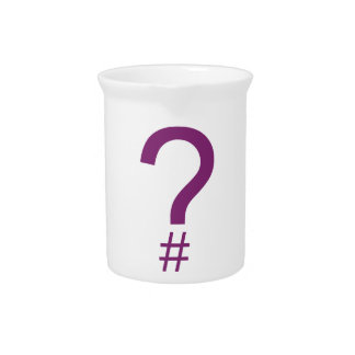 Purple Question Tag/Hash Mark Drink Pitcher