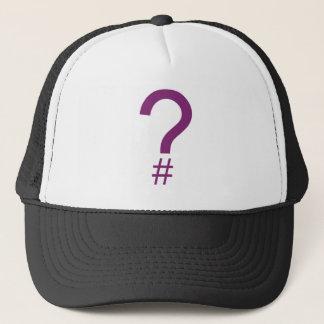 Purple Question Tag/Hash Mark Trucker Hat