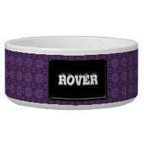 Purple quilt pattern bowl