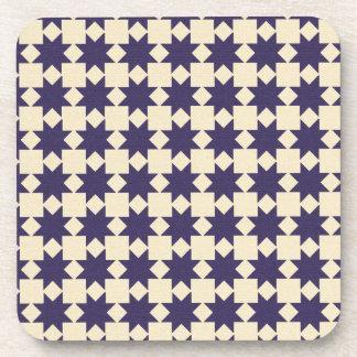 Purple Quilt Pattern Drink Coasters