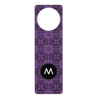 Purple quilt pattern door hanger