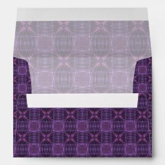 Purple quilt pattern envelopes