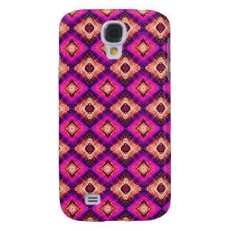 Purple Quilt Pattern Galaxy S4 Case