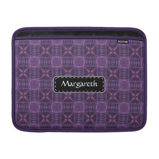 Purple quilt pattern MacBook sleeve
