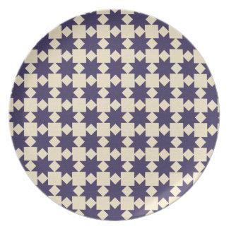Purple Quilt Pattern Party Plates