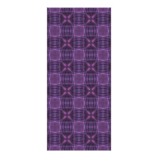 Purple quilt pattern full color rack card