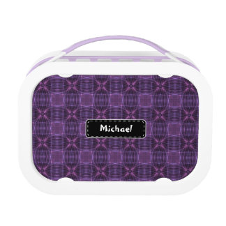 Purple quilt pattern replacement plate
