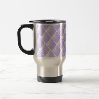 Purple Quilted Diamond Pattern Coffee Mug