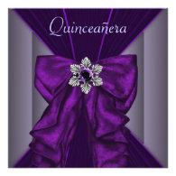 Purple Quinceanera Party Invitations