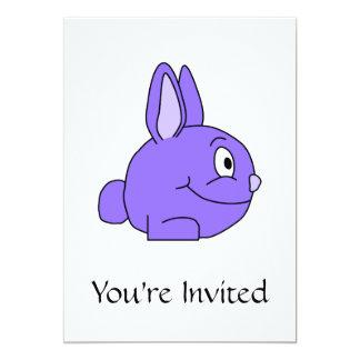Purple Rabbit 5x7 Paper Invitation Card