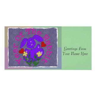Purple Rabbit Photo Cards