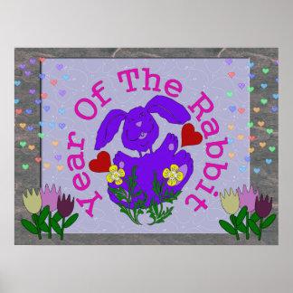 Purple Rabbit Poster
