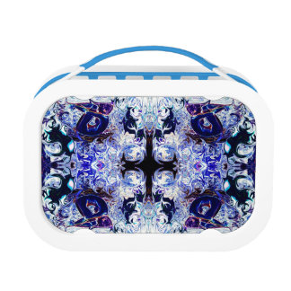 Purple Rabbit Yoga Lunchbox by deprise brescia