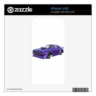 Purple Racing Car iPhone 4S Decal