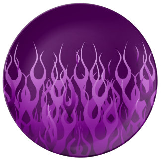 Purple Racing Flames Plate