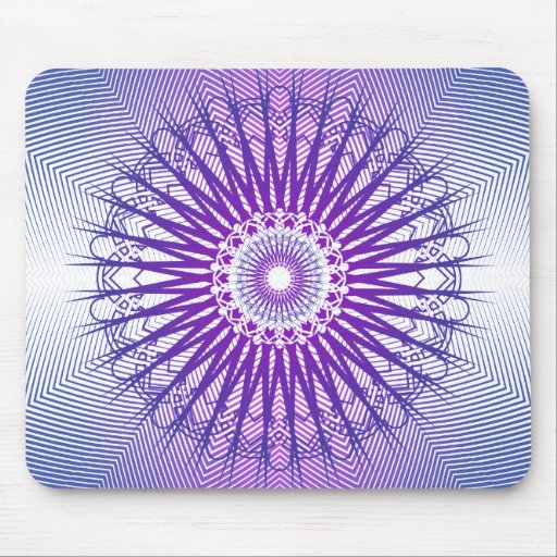 Purple Radial Pattern: Vector Drawing: Mousepad