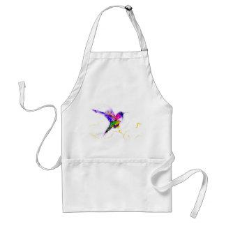 """""""Purple Radiance"""" Hummingbird Print Adult Apron"""