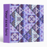 Purple Radiant Orchid Pattern Binder