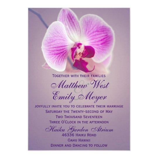 Superb Purple Radiant Orchid Wedding Invitation