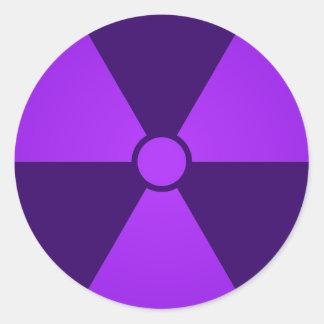 Nuclear Radiation Symbol Stickers | Zazzle