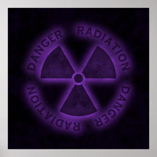Purple Radiation Symbol Poster | Zazzle