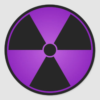 Purple Radiation Symbol Sticker