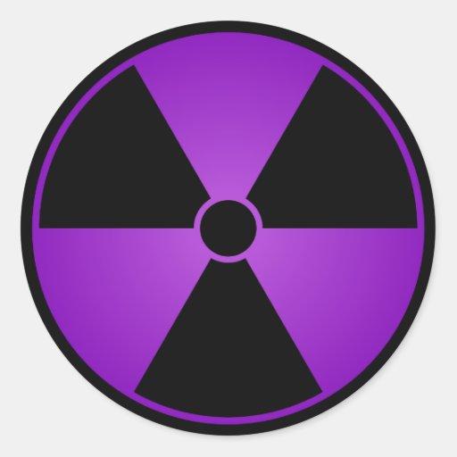 Purple Radiation Symbol Sticker | Zazzle