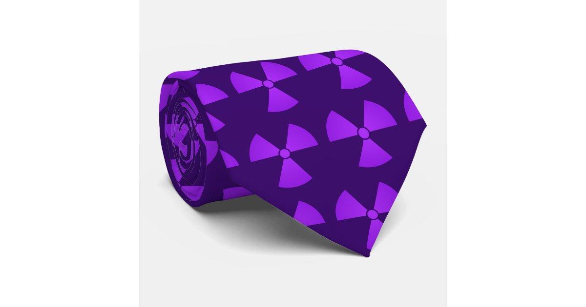 Purple Radiation Symbol Tie | Zazzle