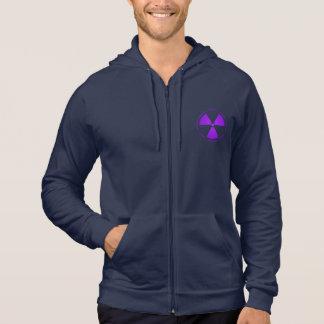 Purple Radiation Warning T-Shirt Hooded Sweatshirt