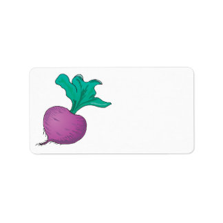 purple radish address label