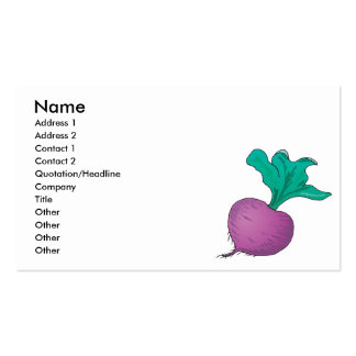 purple radish Double-Sided standard business cards (Pack of 100)