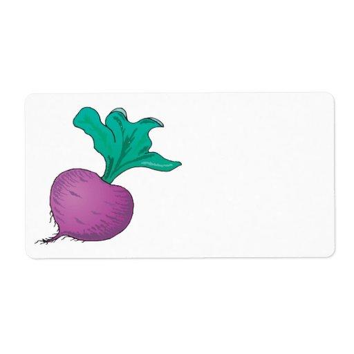purple radish shipping labels