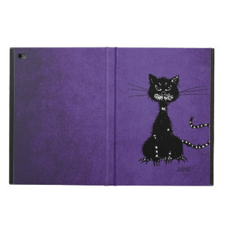 Purple Ragged Evil Black Cat Powis iPad Air 2 Case