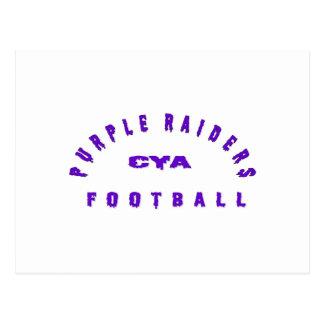 Purple Raiders Gear Postcard
